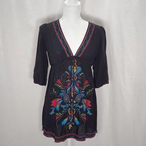 Forever 21 BoHo Style 3/4 Sleeve Tunic Size M/M
